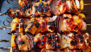 Beer and Honey Barbecue Chicken Skewers