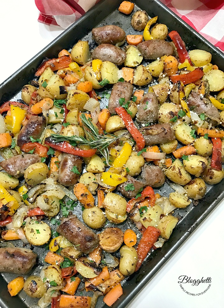 Sheet Pan Roasted Italian Sausage with Vegetables