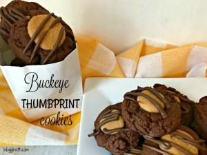 Buckeye Thumbprint Cookies and a Giveaway