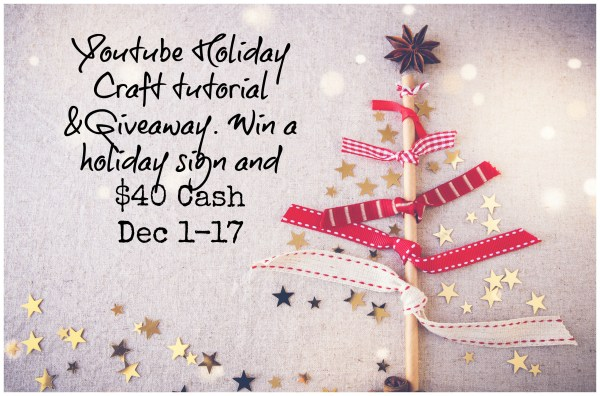 Season of Giveaways: Youtube Holiday Craft Tutorial & Giveaway