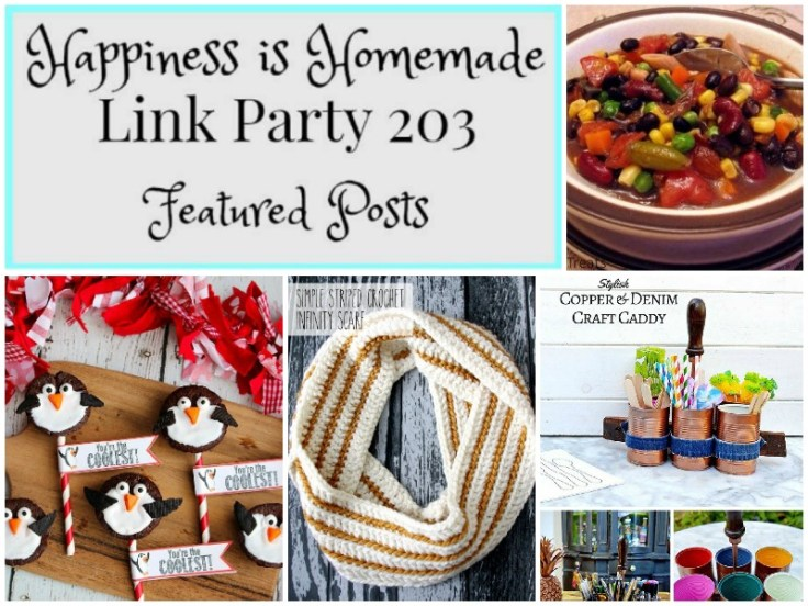 Happiness is Homemade Link Party features for January 14