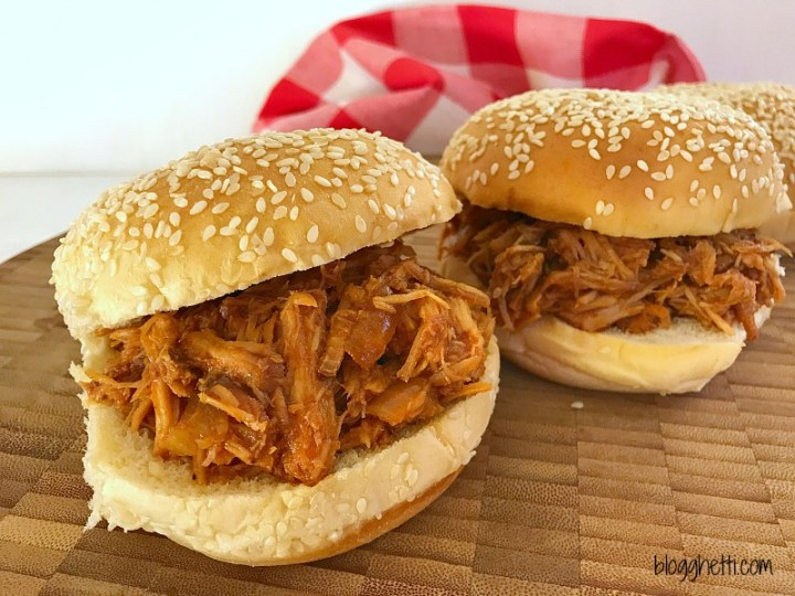 Delicious Tangy BBQ Pulled Pork made with a simple-to-make spicy Paleo BBQ Sauce is just the meal you need any night of the week.