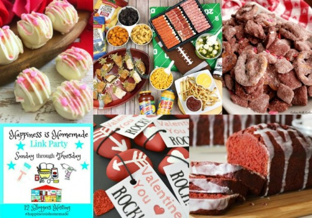 Welcome to another week of Happiness is Homemade Link Party! We're so glad you're here! It's February and that means two things - Super Bowl and Valentine's Day. The posts last week - WOW - so many wonderful ones that it was difficult to choose features for this week. I am betting that this week will be no different - more marvelous content coming!