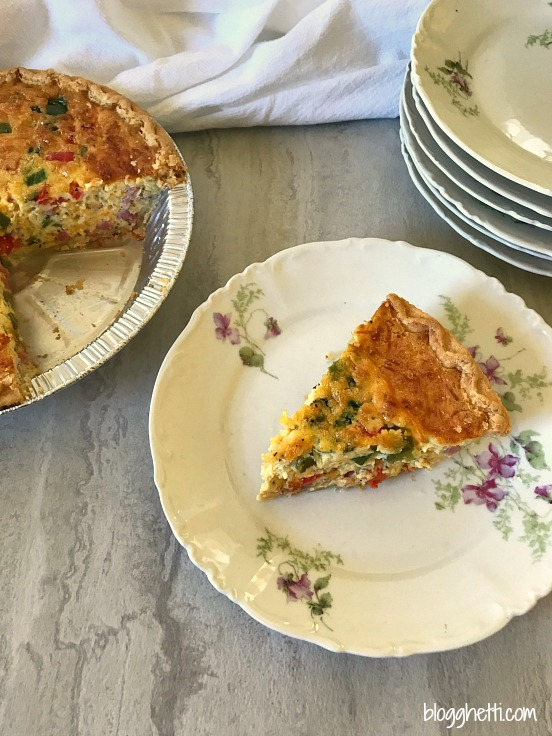 Western Omelet Quiche slice