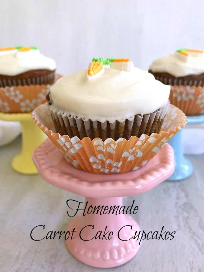 Homemade Carrot Cake Cupcakes