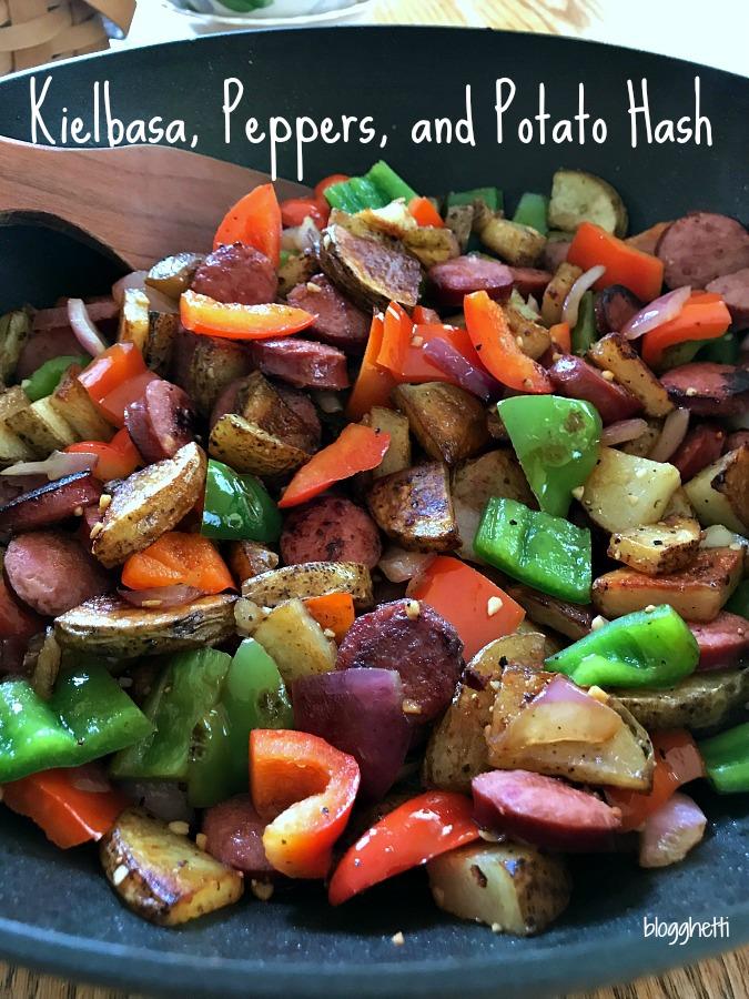 Kielbasa Peppers and Potato Hash