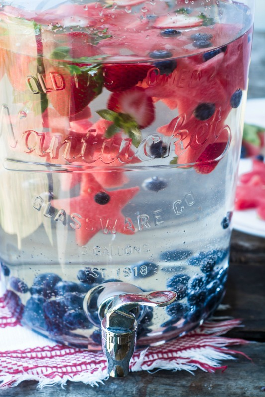 Patriotic Infused Water
