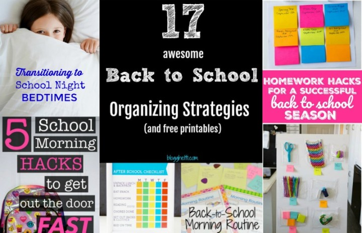 17 Awesome Back to School Organizing Strategies plus Printables feature