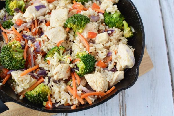 Ginger Chicken Recipe with Veggies and Rice - A Magical Mess