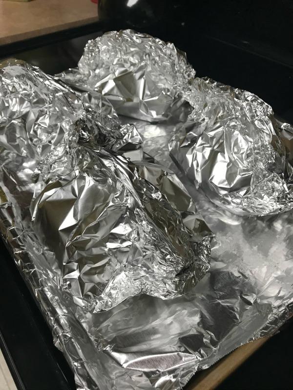 Chicken and Potato Fajita Foil Packs - ready to bake