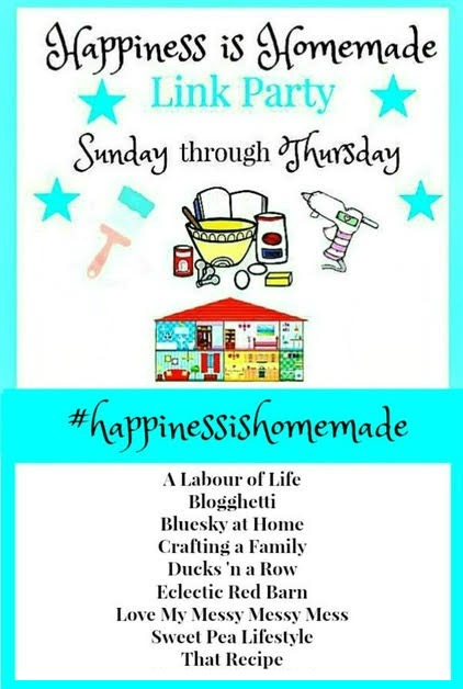 Welcome to this week's Happiness is Homemade Link Party! We're so glad you're visiting and hope you find wonderful DIY projects, recipes, and inspiration from the fabulous links this week.