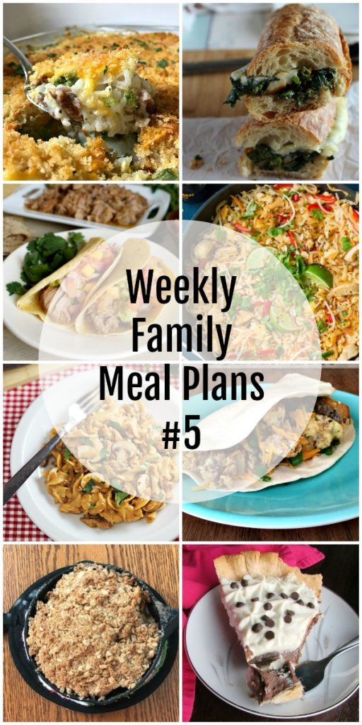 Weekly Family Meal Plans #5