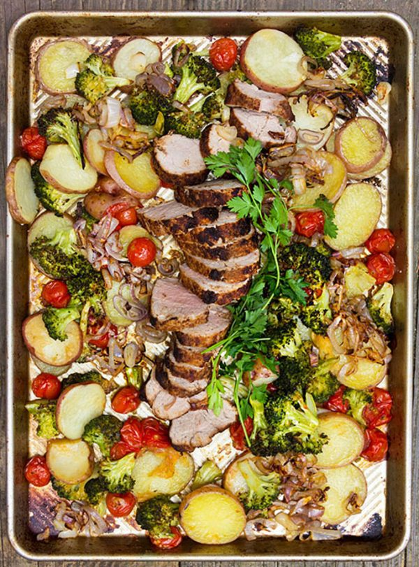 Pork Potatoes Vegetables from Panning the Globe