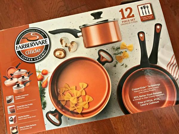 Farberware Glide Copper Ceramic set