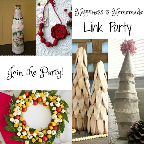 It's time for Happiness is Homemade Link Party and we're so glad you're joining us! We've got the best recipes, DIY projects, crafts, home decor ideas, and so much more #HappinessisHomemade #linkparty