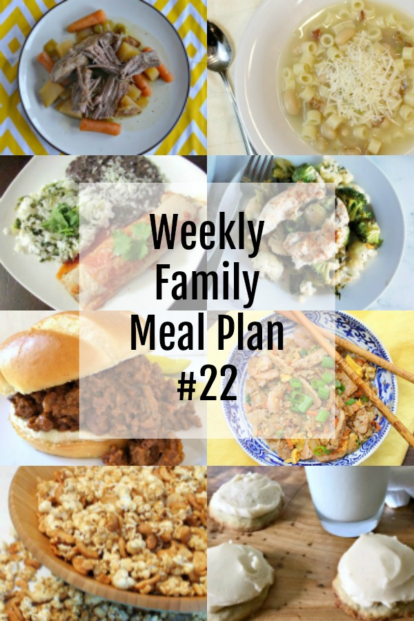 Collage of family dinner ideas for the week