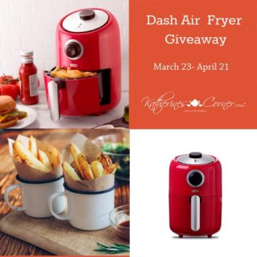 Collage of Air Fryer giveaway with dates