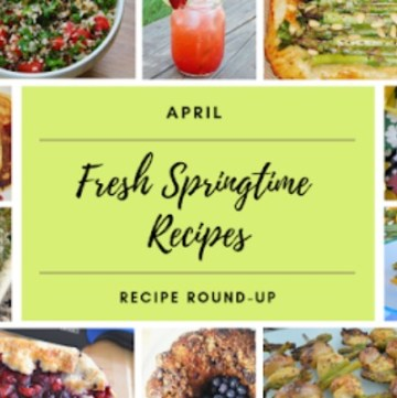 April Recipe round up collage