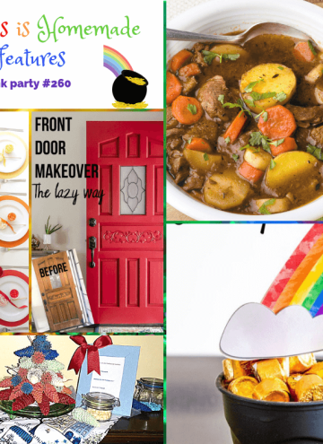 collage of this week's Happiness is Homemade Link Party Features
