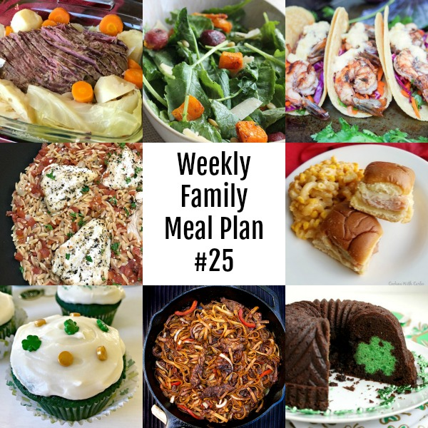 collage of weekly meals