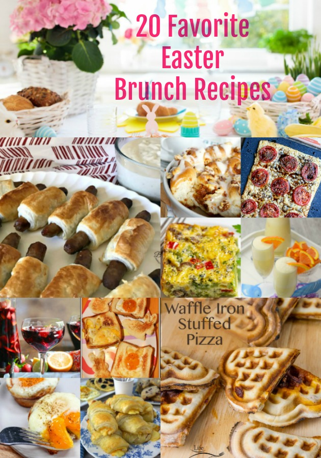 collage of 20 Favorite Easter Brunch Recipes