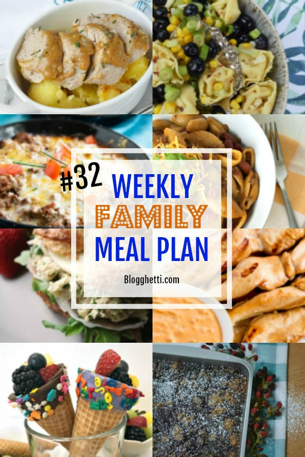 Weekly Family Meal Plan #32 collage