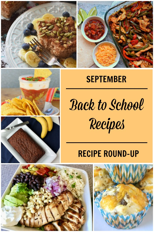 Sept Back to School Recipes collage