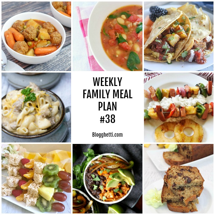 Weekly Family Meal Plan #38- square