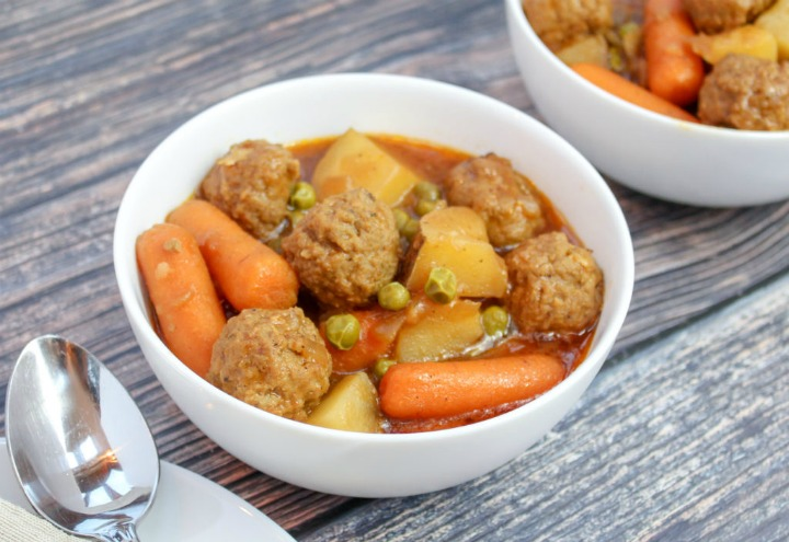 slow cooker meatball stew