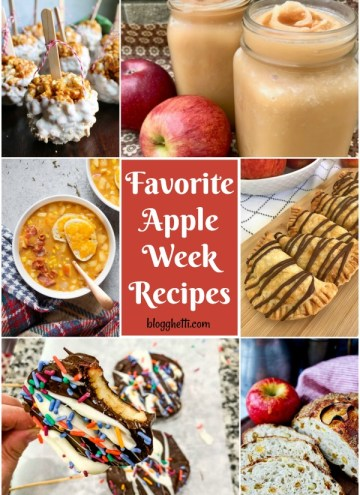 collage of Favorite Apple Week Recipes