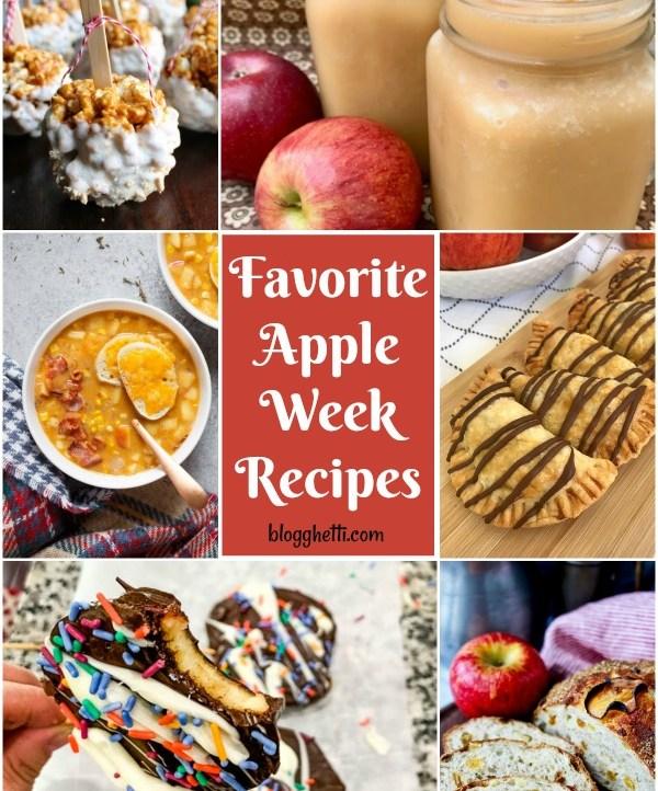 collage of Favorite Apple Week Recipes