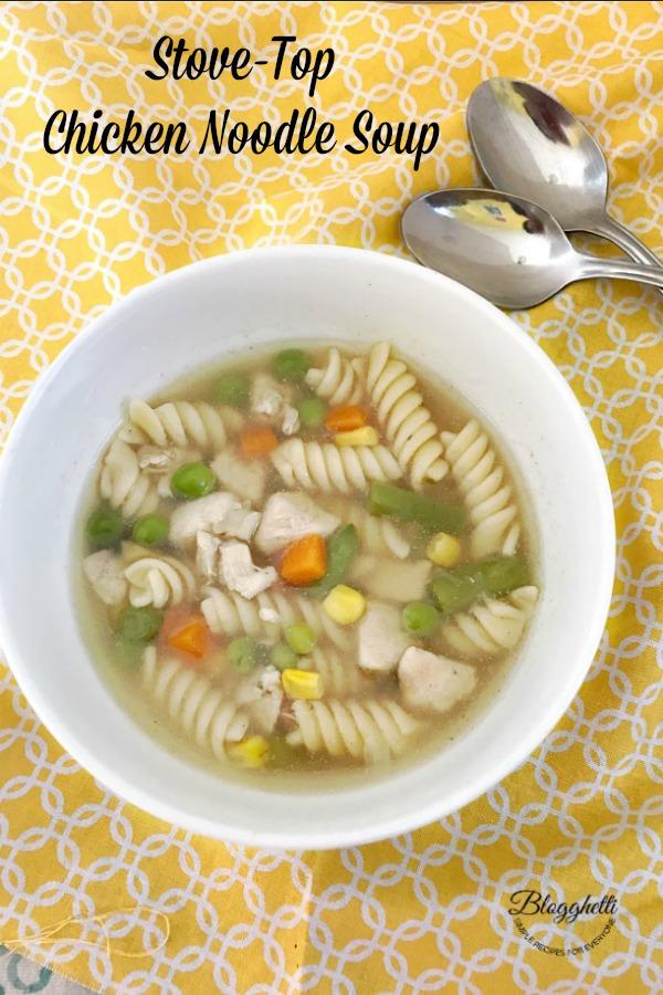 Stove-Top Chicken Noodle Soup