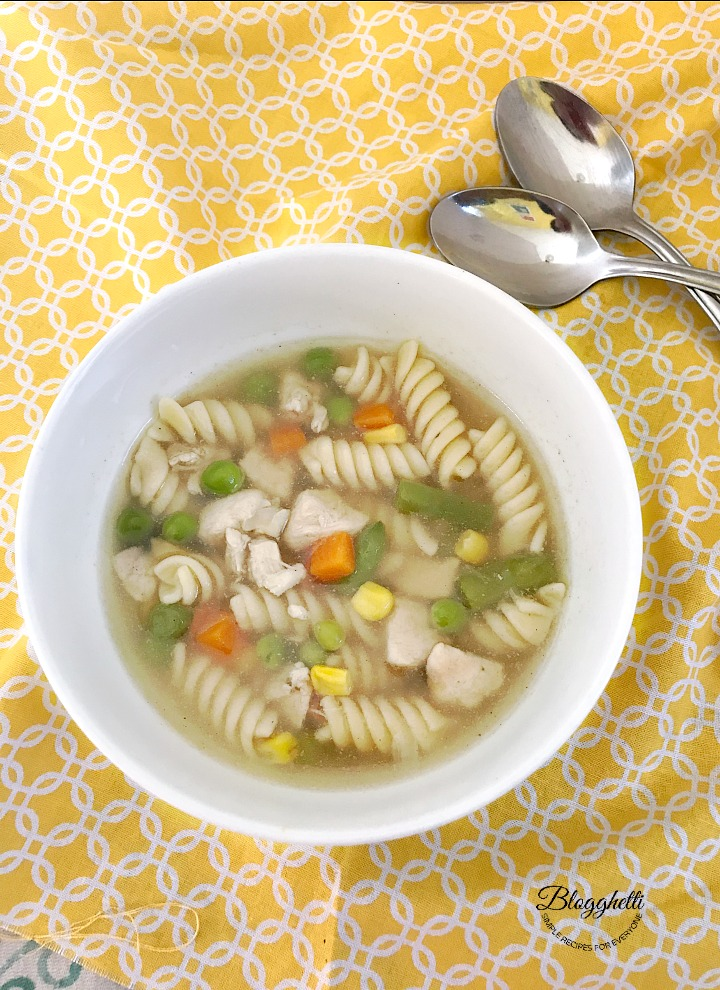 Stove-Top Chicken Noodle Soup: Recipe for Hunger Action Month