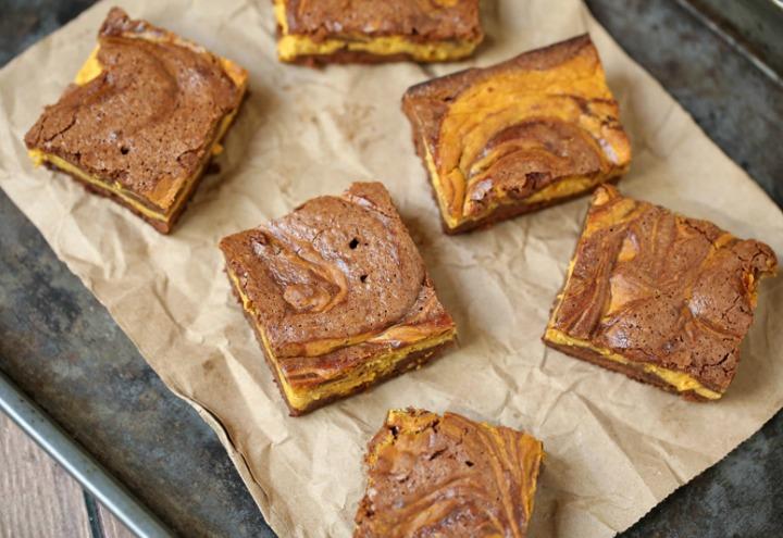 pumpkin cheesecake brownies