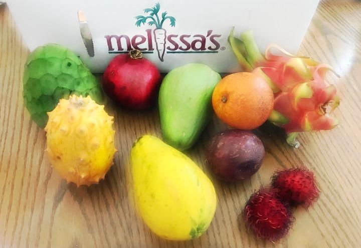 Melissa's Produce box of freaky fruits