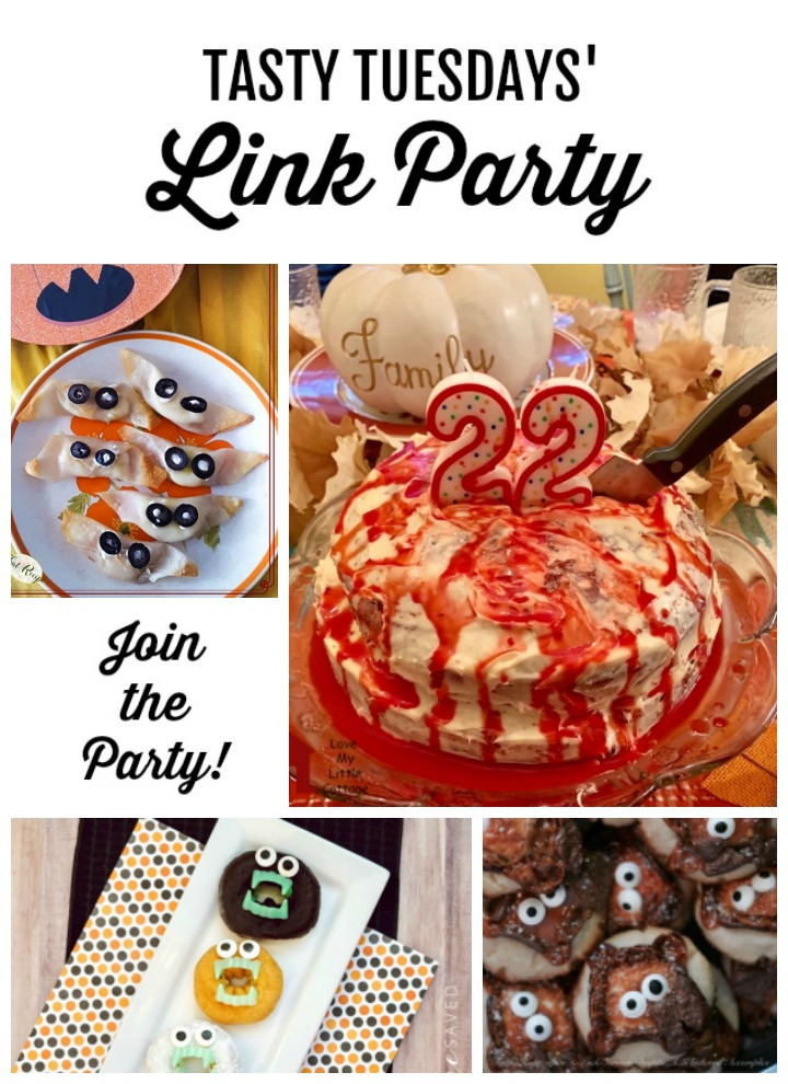 Tasty Tuesdays' Link Party Collage of features for Oct 15