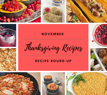 Collage of November recipes for round up