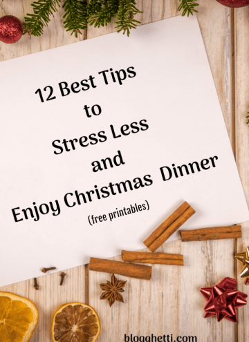 12 Best Tips to Stress Less and Enjoy Christmas Dinner pin image