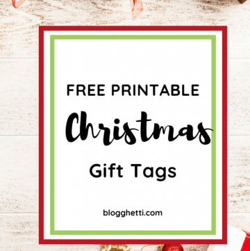 FREE PRINTABLE christmas gift tags - pin image