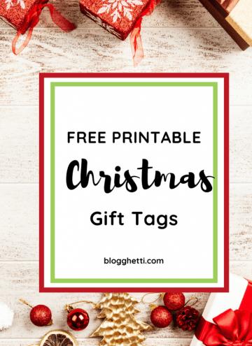 FREE PRINTABLE christmas gift tags - pin image