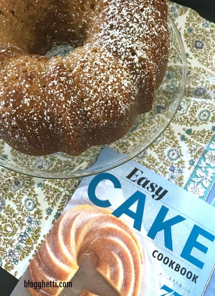 apple butter bundt cake with cookbook