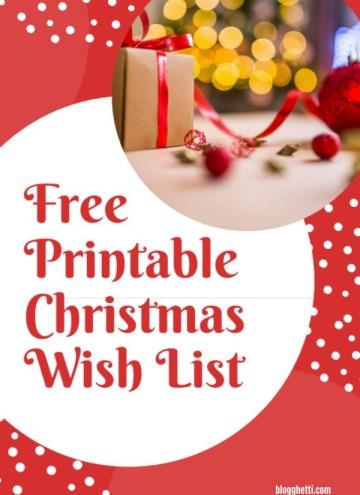 Free Christmas Wish List