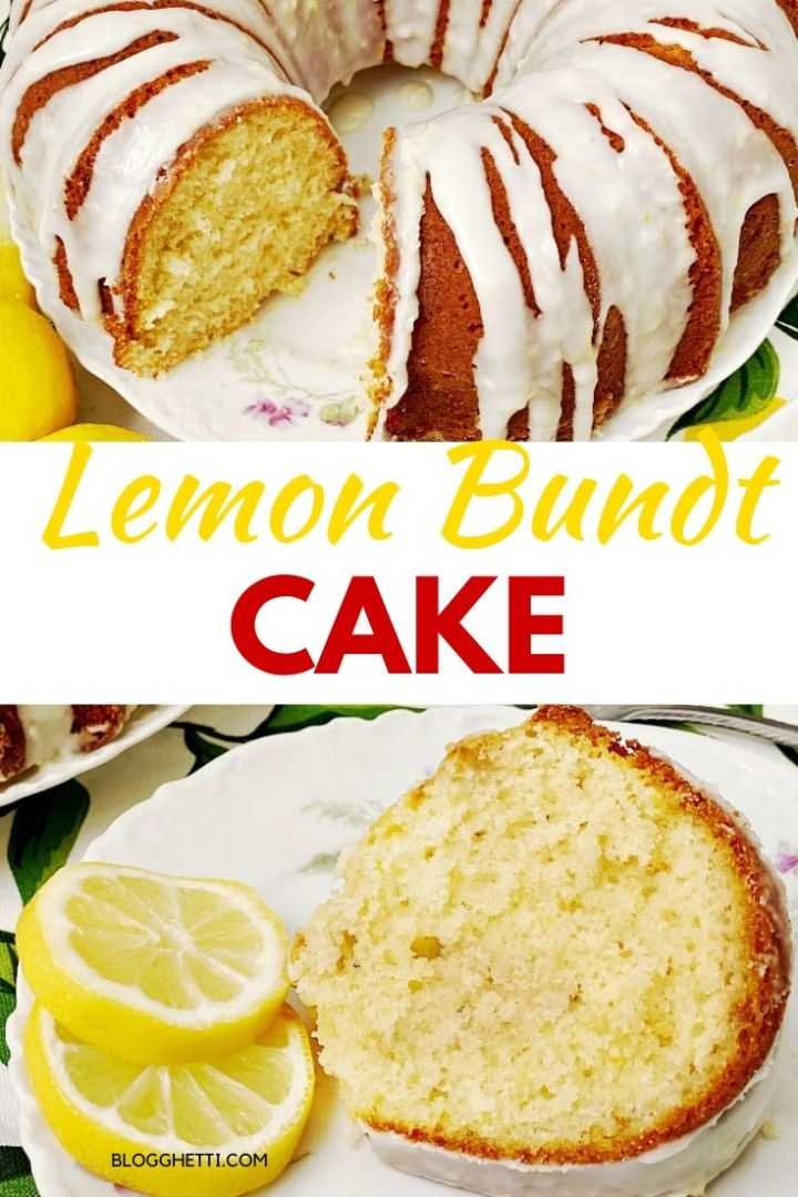 Delicious Lemon Bundt Cake - pin