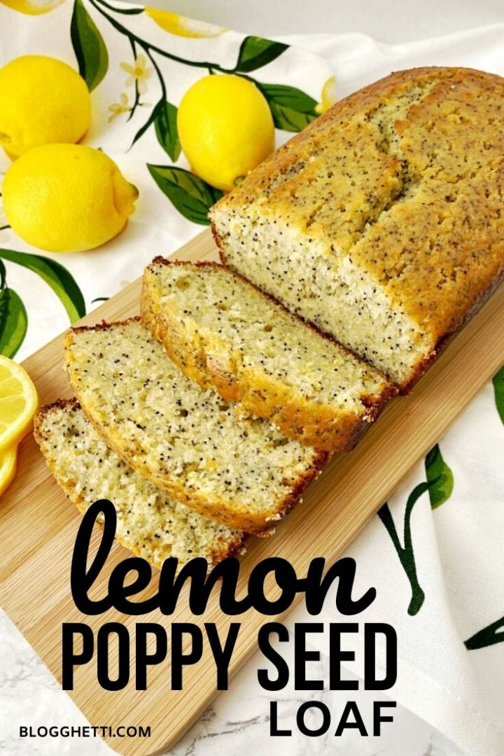 lemon poppy seed loaf - pinterest