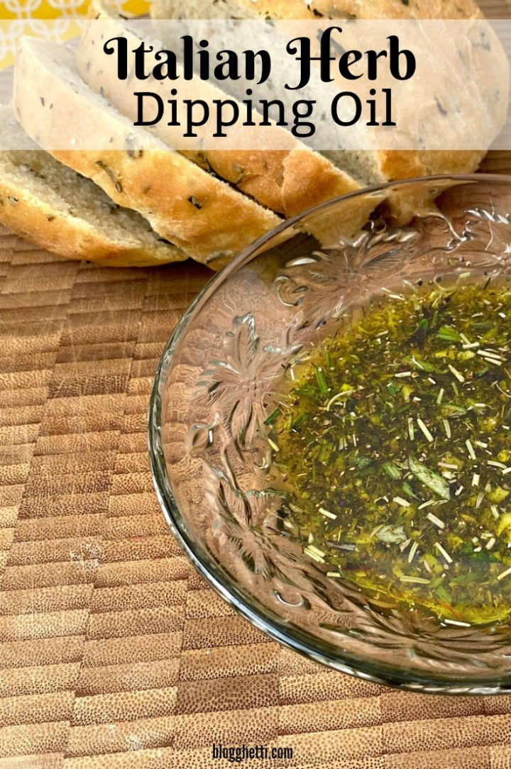 Italian-herb-dipping-oil with bread