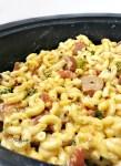 slow cooker broccoli sausage macaroni casserole