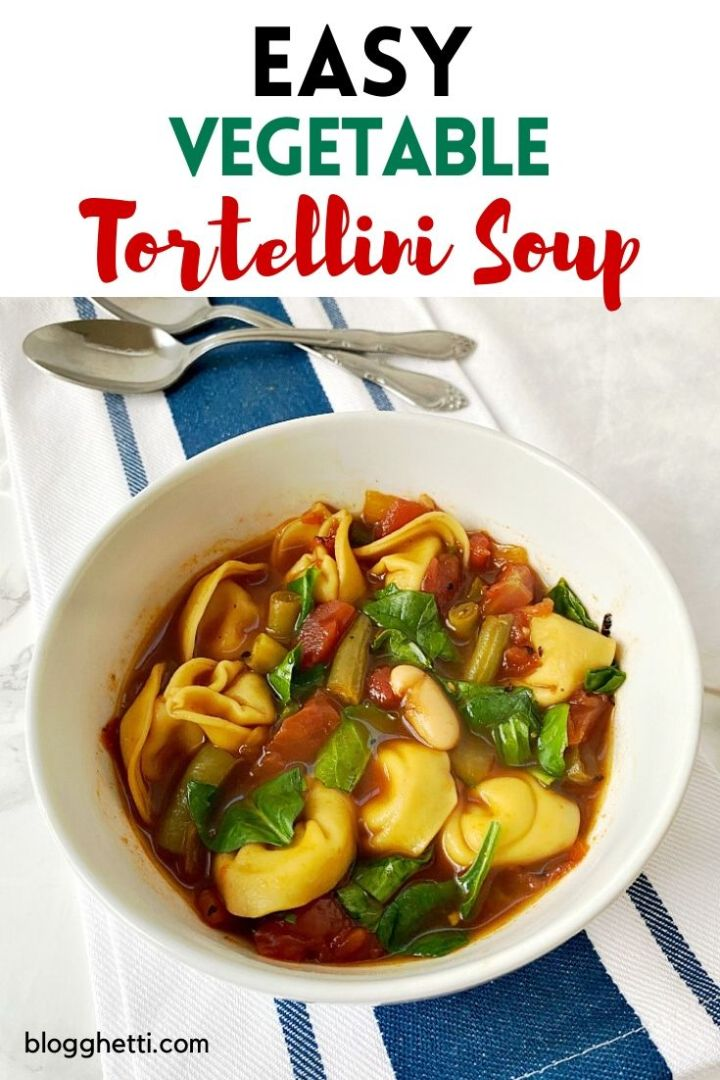 Easy Vegetable Tortellini Soup for Meatless Monday