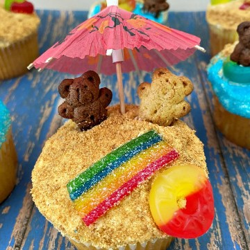 fun summer themed cupcake