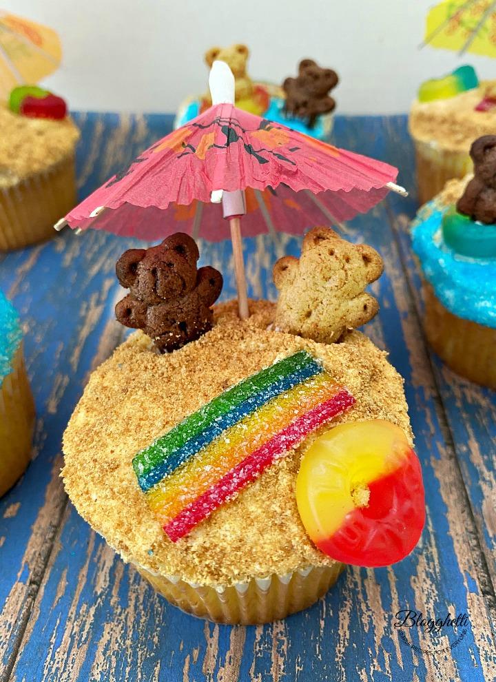 fun summer themed cupcake