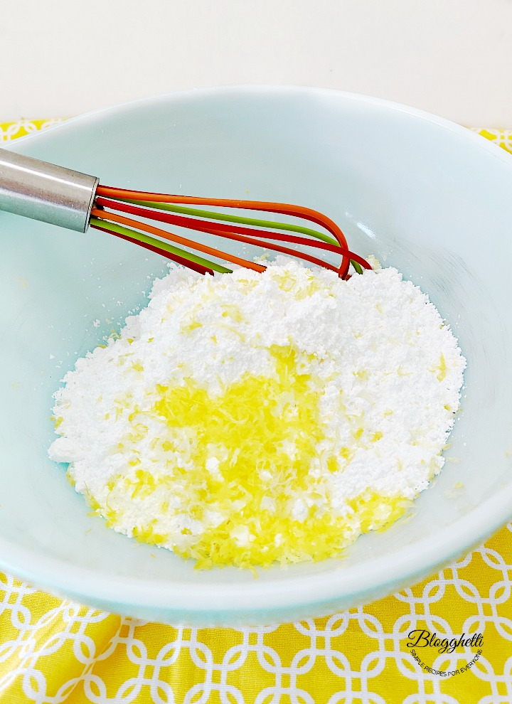 powdered sugar and lemon zest for glaze